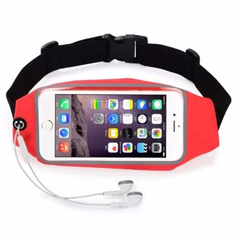 Universal Water Resistant Sport Gym Running Belt, Outdoor RunningSport Waist Bag for iPhone 7 Plus or 5.5 inch Smart Phone (Red)