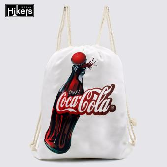Urban Hikers Canvas Drawstring Backpack (Cola)
