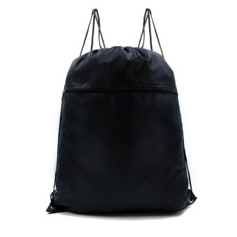 Urban Hikers Lucky Travel Foldable Drawstring Backpack (Navy Blue)