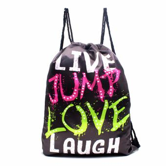 Urban Hikers Waterproof Summer Travel Drawstring Backpack (LiveJump Love Laugh)