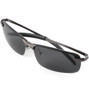 UV400 Polarized Glasses Outdoor Sports Driving Sunglasses Black+Grey Frame OS387-SZ - 3