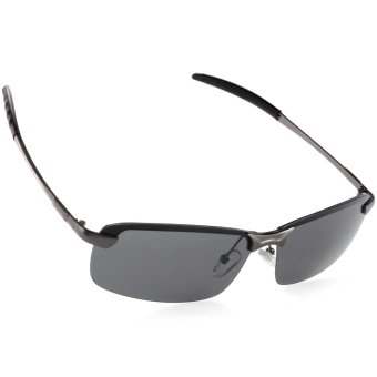 UV400 Polarized Glasses Outdoor Sports Driving Sunglasses Black+Grey Frame OS387-SZ - 2