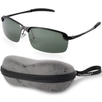 UV400 Polarized Glasses Outdoor Sports Driving SunglassesGreen+Black Frame OS390-SZ Price Philippines