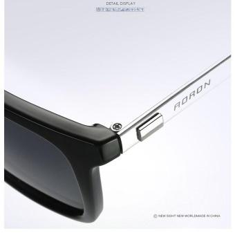 VEITHDIA 387 Fashion Alloy Frame Square Polarized Sunglasses MenDriving Glasses gun grey - intl - 5
