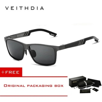 VEITHDIA Aluminum Sunglasses Polarized Lens Men Sun Glasses Mirror Male Driving Fishing Eyewears Accessories 6560 (Grey)[ free gift ]- intl