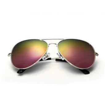 VEITHDIA Brand Classic Fashion Polarized Sunglasses Men/Women Colorful Reflective Coating Lens Eyewear Accessories Sun Glasses 3026(Silver Purple) - intl - 2