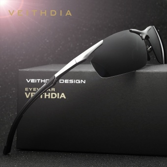 VEITHDIA Brand Men's Aluminum Magnesium Sun Glasses HD Polarized UV400 Sun Glasses oculos Male Eyewear Sunglasses For Men 6592 - intl