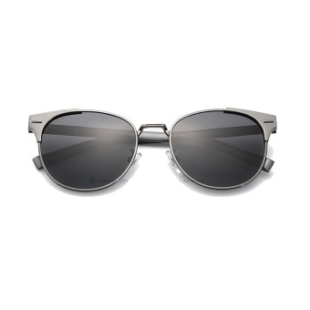VEITHDIA Unisex Retro Aluminum Brand Sunglasses Polarized Lens Vintage Eyewear Accessories Sun Glasses Oculos For Men Women 6109 (Grey grey) [ free gift ]- intl - 2