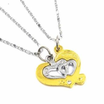 Venice Couple Necklace I Love You 14 (Gold / Silver)