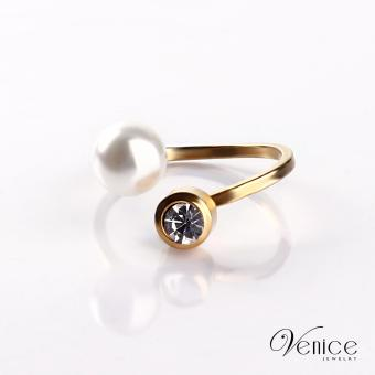 "Venice Holah Gold Plated Ring ""6"""