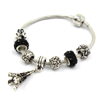 Venice Jewelry Eiffel Tower Charm Bracelet ( Black) Price Philippines