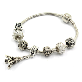 Venice Jewelry Eiffel Tower Charm Bracelet ( White) Price Philippines