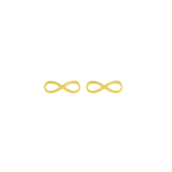 Venice Jewelry Gold Infinity Necklace and Earrings Jewelry Set (18k Gold Plated) - 3