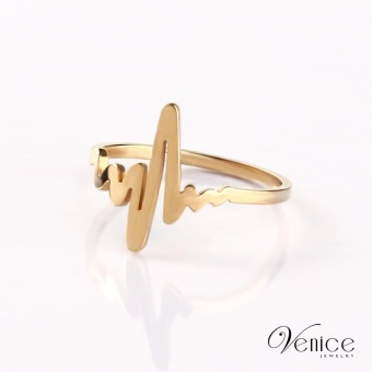 """Venice Lifeline Gold Plated Ring """"8"""""""