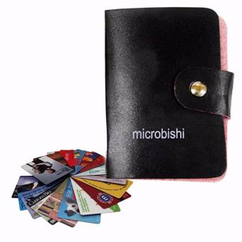 Verygood Microbishi Wallet Holder Pocket Business ID Credit CardCase Colorful Purse Coin bag Pouch (Black)