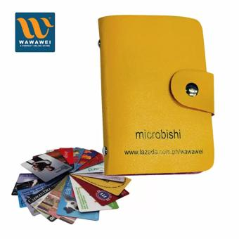 verygood- Microbishi Wallet Holder Pocket Business ID Credit CardCase Colorful Purse Coin bag Pouch (Yellow)