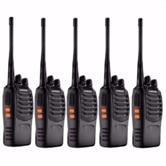 VHF UHF FM Transceiver Walkie Talkie Two-Way Radio set of5(Black)SW-888S