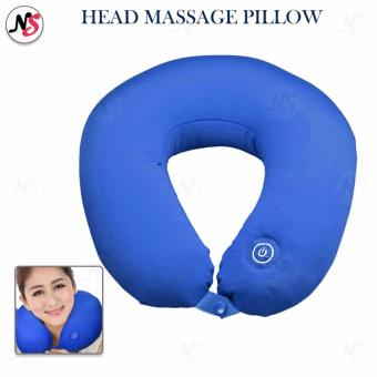 Vibrating Neck & Head Massage Pillow (Blue)