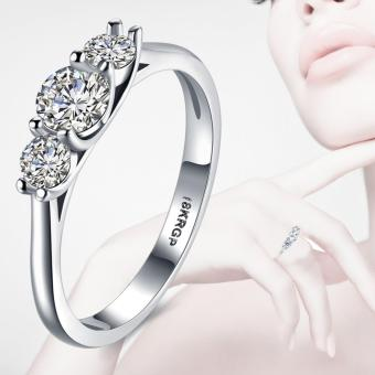 Victoria Fashion 18K White Gold Plated Ring
