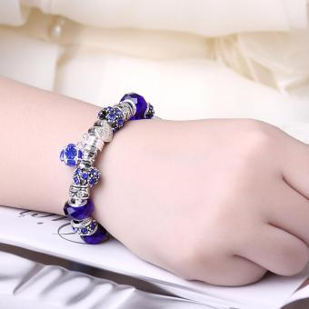 Victoria Jewelry Charm Beaded Bracelet(Blue/Silver) Price Philippines