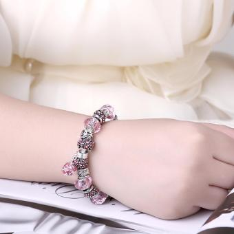 Victoria Jewelry Charm Beaded Bracelet(Pink/Silver) Price Philippines