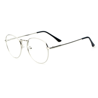 Vintage Unisex Eyeglass Frame Glasses Retro Spectacles Clear Lens Eyewear - intl