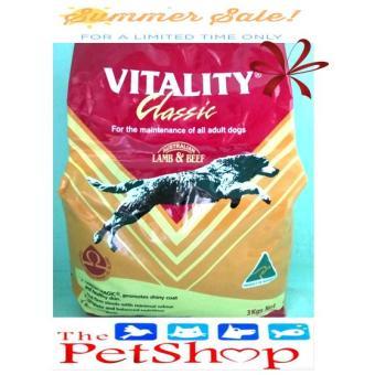 Vitality Classic Adult 3kg Lamb & Beef Dry Dog Food