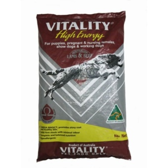 Vitality High Energy Lamb and Beef Dog Food 15kg