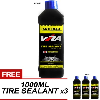 VIZA(R) Premium Tire Tyre Sealant 1L (Bundle of 4 x 1000ML)