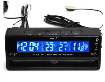VST 7010V car thermometer, car clocks, car voltmeter, doublebackground light.