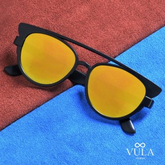 Vula 2016-10 Melina Cat Eye Aviator Sunglasses Shades (Yellow)