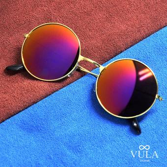 Vula 3027 Briley Casual Unisex Round Sunglasses Shades (Multicolor 1)