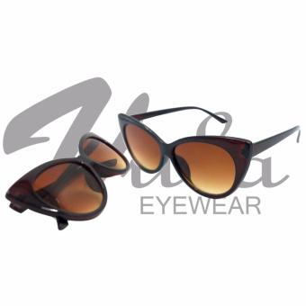 Vula 8103 Margarette Cat Eye Sunglasses Shades (Brown) Price Philippines
