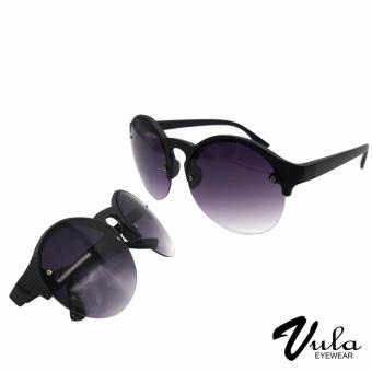 Vula Casual Round Sunglasses Shades Eyeglasses 6091 (Black)