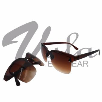 Vula Casual Unisex Square Sunglasses Shades Eyeglasses 6077 (Brown) Price Philippines