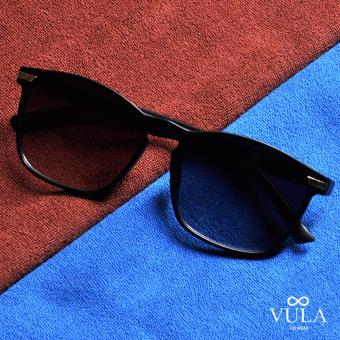 Vula Casual Womens Sunglasses Shades Eyeglasses 107-19 (Black)