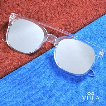 Vula Summer Oversized Womens Sunglasses Shades Eyeglasses 160 (Silver)