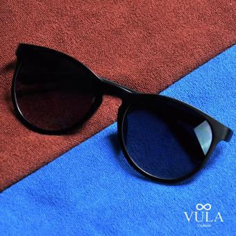 Vula Summer Unisex Casual Sunglasses Shades Eyeglasses JL1143 (Black)