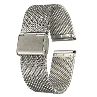 Watch Strap Shark Mesh Chainmail STAINLESS STEEL Mens Band Bracelet 22mm - intl
