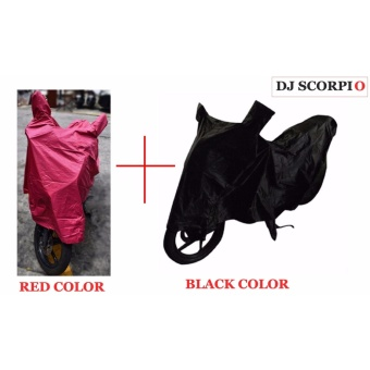 Waterproof Motorcycle Cover (L-RED+BLACK) BUY ONE TAKE ONE