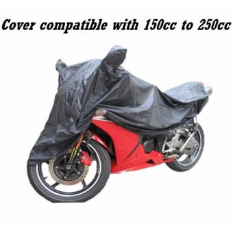 Waterproof Motorcycle Cover with Side Mirror Pocket For Ninja CBR(Black) Price Philippines