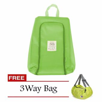 Waterproof Shoe Bag Organizer (Apple Green) with Free 3 Way Bag(Color May Vary) Price Philippines