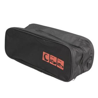Waterproof Shoe Bag Travel Storage Visual Breathable Tote Bag Black