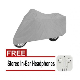 Wawawei Best Quality Motorcycle Cover (Gray) With FREE StereoIn-Ear Headphones (White)
