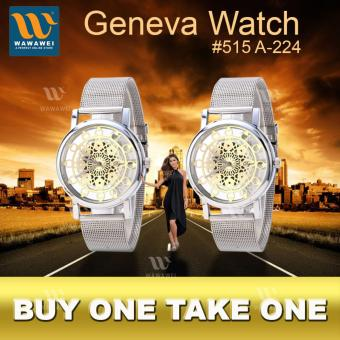 Wawawei Classic Silver Womens Watch (White) #515 A-224 BUY 1 TAKE 1