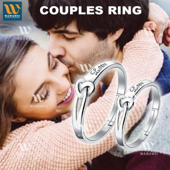 Wawawei Silver Couple Ring Heart Love Shape Jewelry Ring