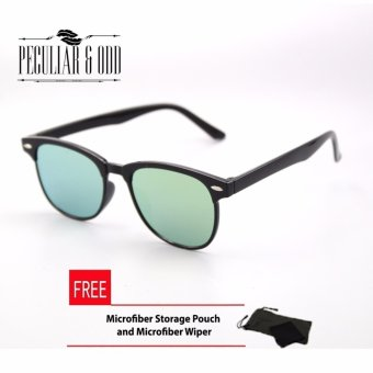 Wayfarer OverSized Flash Lenses Apple Green_721 Flash Straight Design_Unisex
