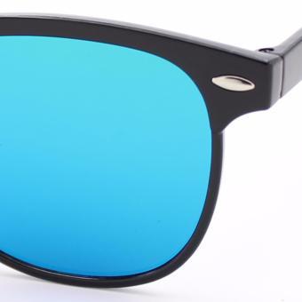 Wayfarer OverSized Flash Lenses BlueGreen Flash_721 Straight Design_Unisex - 3