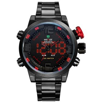 Weide Black Stainless Steel Band Men's LED Watch Wh2309B-2C-Red Index Price Philippines