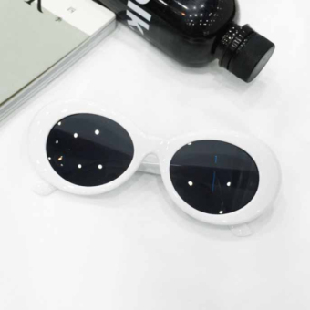 Wenxiangfang Korean-style Retro Sunglasses with Oval Frame